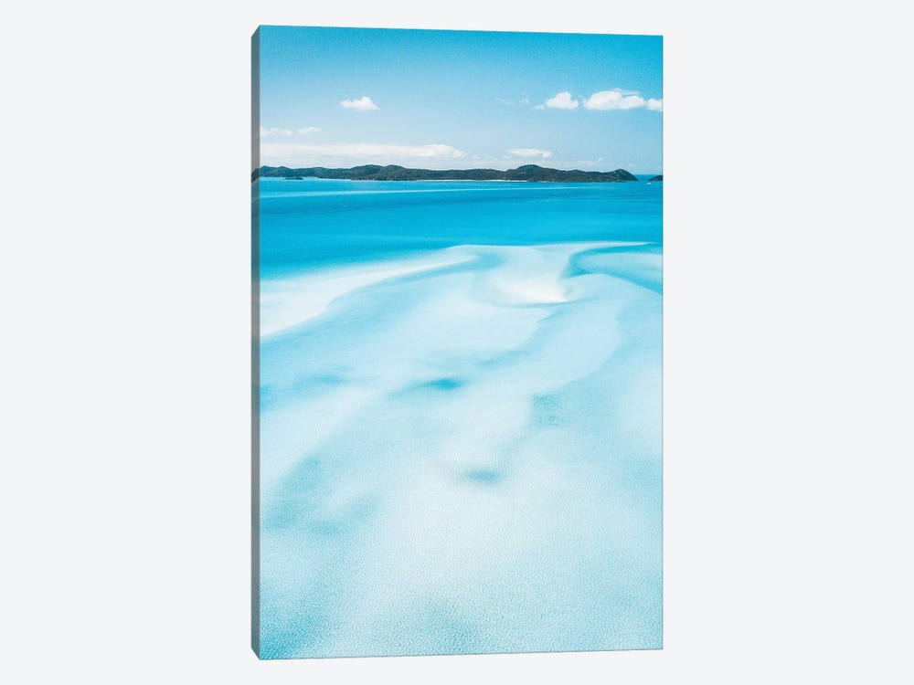 Sand Swirls Hill Inlet Whitsunday Islands by James Vodicka 1-piece Canvas Artwork