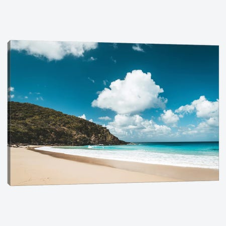 Secluded Island Beach Blue Water Canvas Print #JVO158} by James Vodicka Canvas Art Print