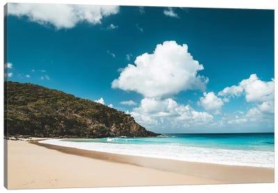 Secluded Island Beach Blue Water Canvas Art Print