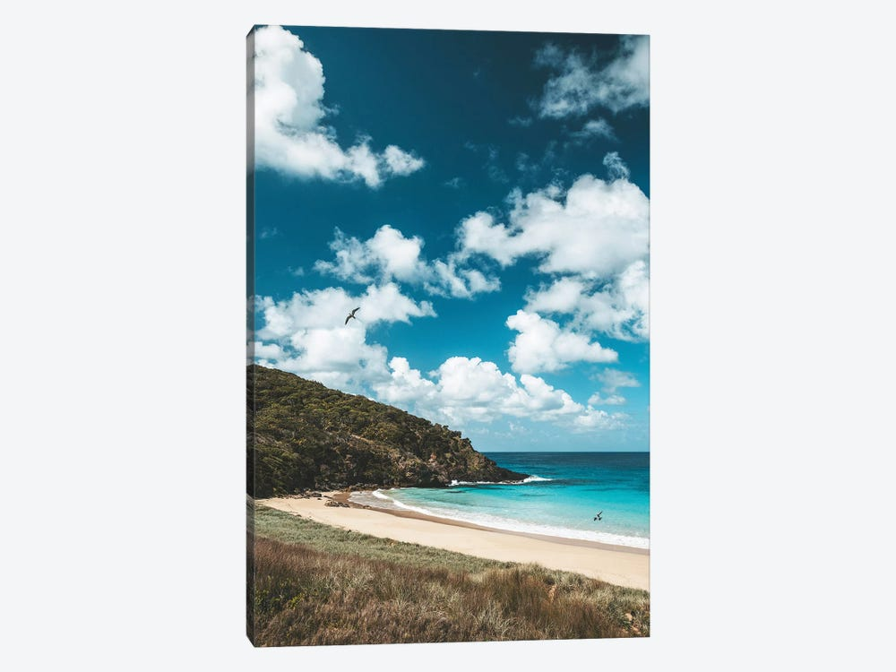 Secluded Island Beach Blue Water (Tall) by James Vodicka 1-piece Canvas Print