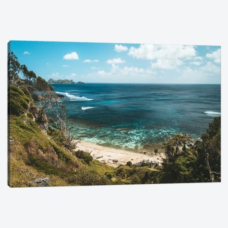 Secluded Jungle Forest Beach With Coral Reef Canvas Print #JVO160} by James Vodicka Canvas Art
