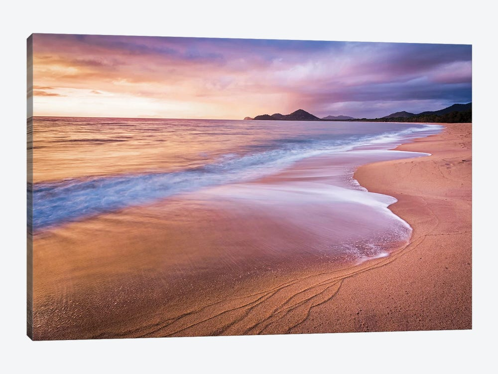 Stormy Beach Sunrise Palm Cove by James Vodicka 1-piece Canvas Art