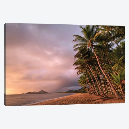 Stormy Beach Sunrise Palm Cove 2 3-Piece Canvas #JVO170} by James Vodicka Art Print