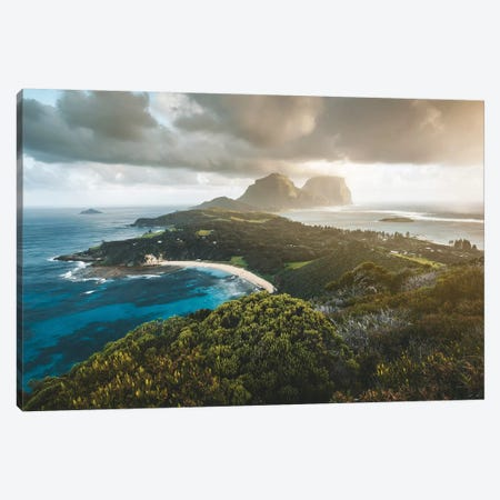Stormy Sunset Malabar Island Lookout Canvas Print #JVO173} by James Vodicka Art Print