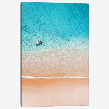 Summer Beach Friends Floating Canvas Print #JVO174} by James Vodicka Canvas Art