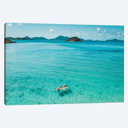 Summer Beach Girls Floating Canvas Print #JVO175} by James Vodicka Canvas Wall Art