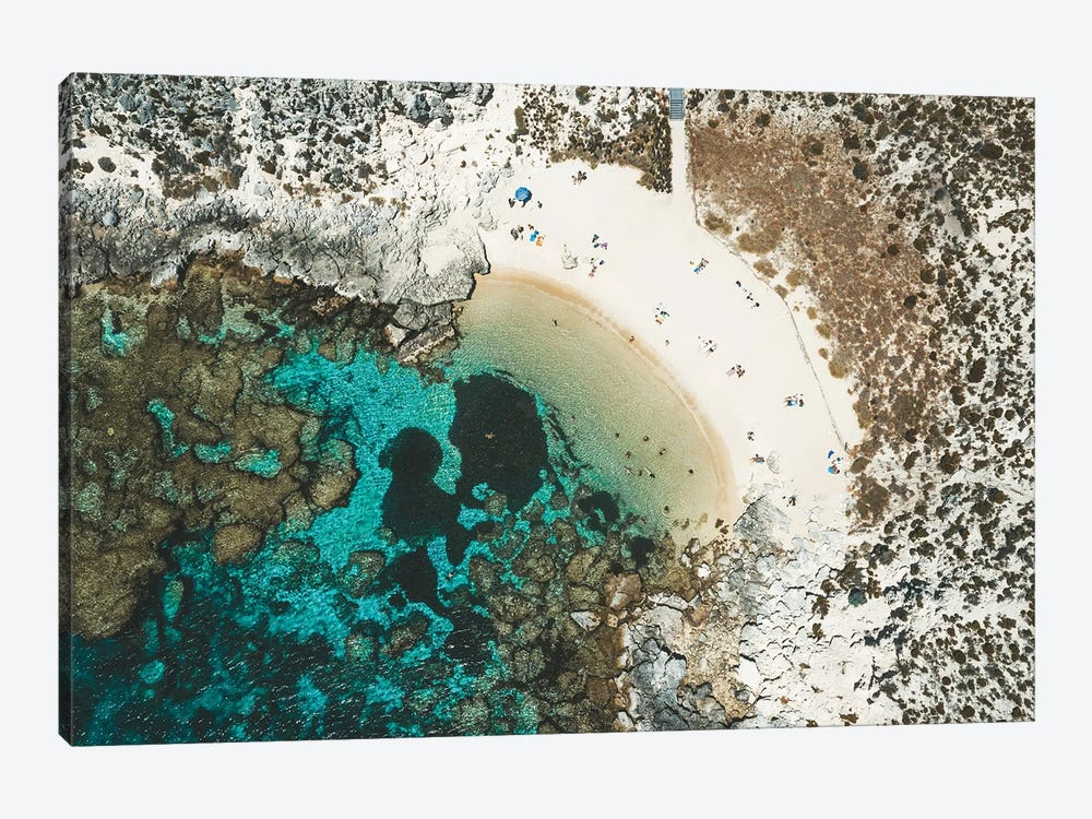 Summer Beach Island Aerial by James Vodicka 1-piece Canvas Art