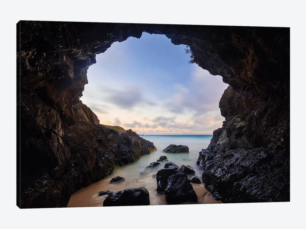 Sunrise Sea Cave by James Vodicka 1-piece Canvas Artwork