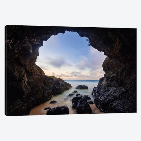 Sunrise Sea Cave Canvas Print #JVO178} by James Vodicka Canvas Art Print