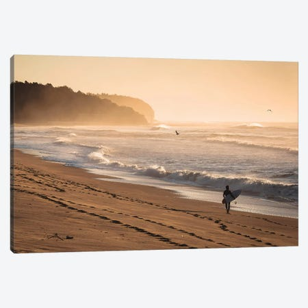 Sunrise Surfer Canvas Print #JVO179} by James Vodicka Canvas Print
