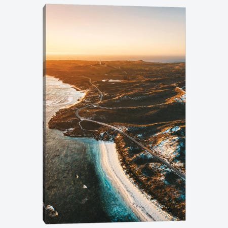 Sunset Coastline Rottnest Island Aerial Canvas Print #JVO183} by James Vodicka Canvas Artwork