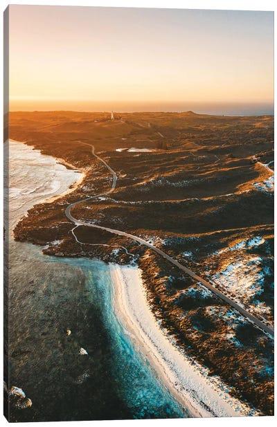 Sunset Coastline Rottnest Island Aerial Canvas Art Print