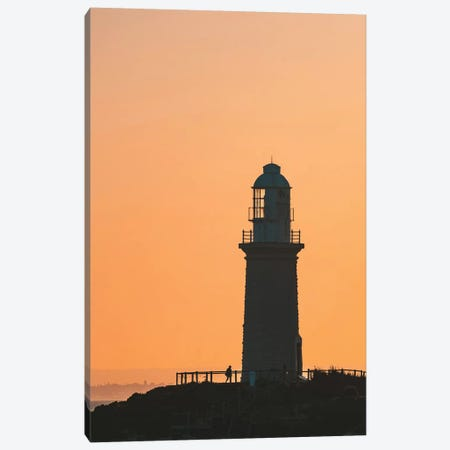 Sunset Lighthouse Silhouette Canvas Print #JVO189} by James Vodicka Canvas Artwork