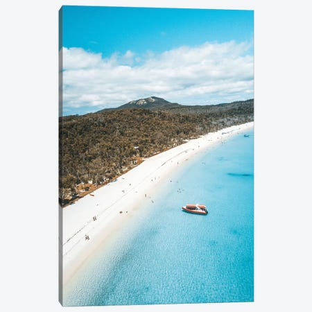 Blue Water White Sand Island Beach Aerial Canvas Print #JVO18} by James Vodicka Canvas Art Print
