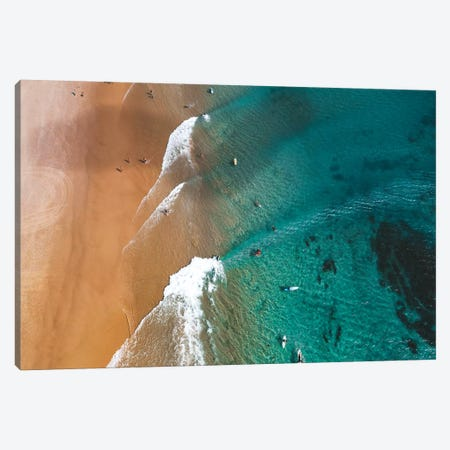 Surfers at The Pass Canvas Print #JVO195} by James Vodicka Canvas Wall Art