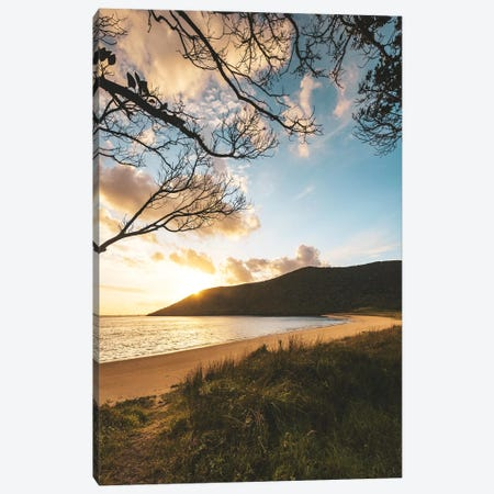 Tranquil Beachside Sunset Canvas Print #JVO198} by James Vodicka Art Print