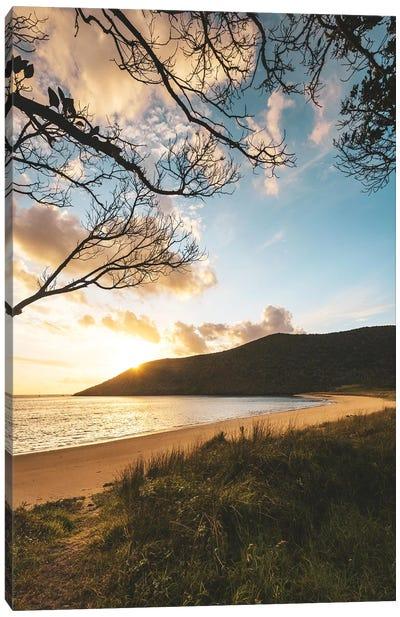 Tranquil Beachside Sunset Canvas Art Print