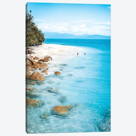 Tropical Island Beach (tall) Canvas Print #JVO199} by James Vodicka Canvas Art Print