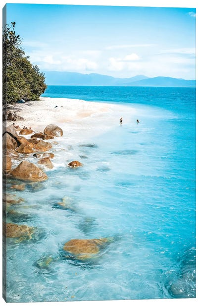 Tropical Island Beach (tall) Canvas Art Print