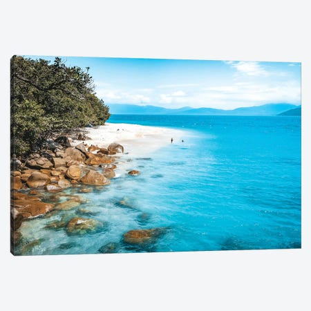 Tropical Island Beach (wide) Canvas Print #JVO200} by James Vodicka Canvas Art Print