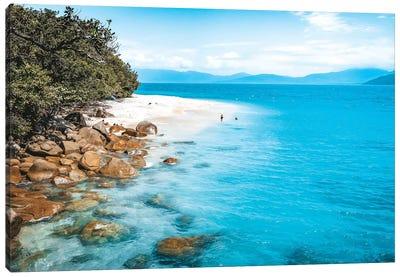 Tropical Island Beach (wide) Canvas Art Print