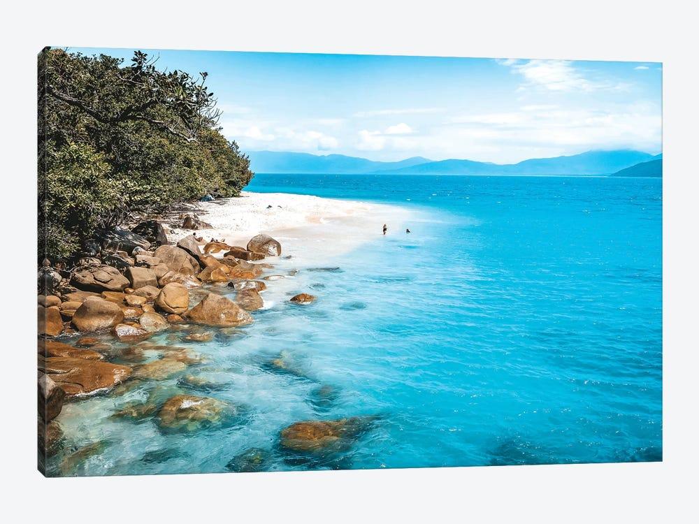Tropical Island Beach (wide) by James Vodicka 1-piece Canvas Print