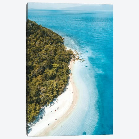 Tropical Island Beach Aerial Canvas Print #JVO201} by James Vodicka Canvas Print