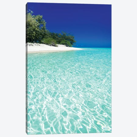 Tropical Island Blue Water Beach Landscape Canvas Print #JVO202} by James Vodicka Canvas Print