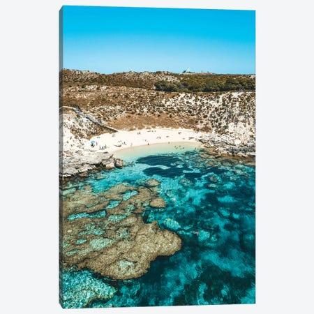 Turquoise Coral Reef Beach Aerial Canvas Print #JVO208} by James Vodicka Canvas Print