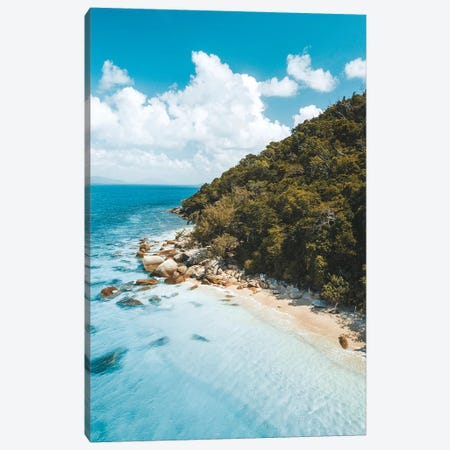 Turquoise Island Beach Canvas Print #JVO210} by James Vodicka Canvas Art