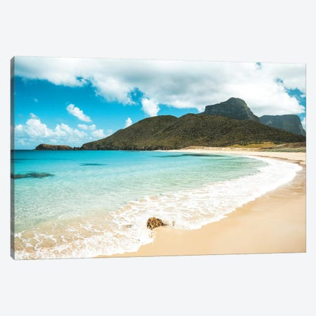 Volcanic Island Beach With Small Splash Canvas Print #JVO227} by James Vodicka Canvas Art