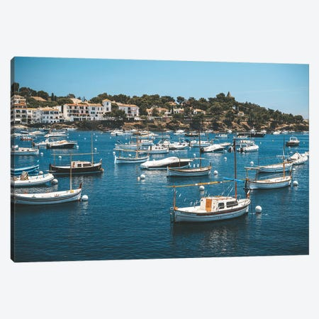 Cadaques Port Boats Canvas Print #JVO22} by James Vodicka Canvas Art