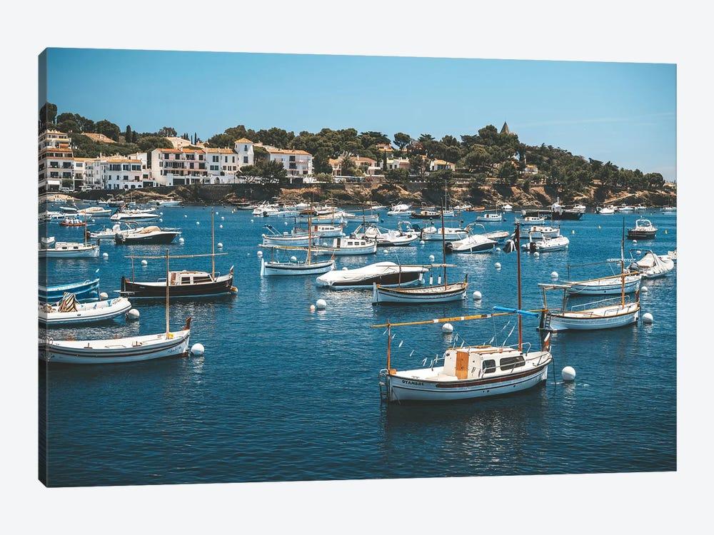 Cadaques Port Boats by James Vodicka 1-piece Canvas Art Print