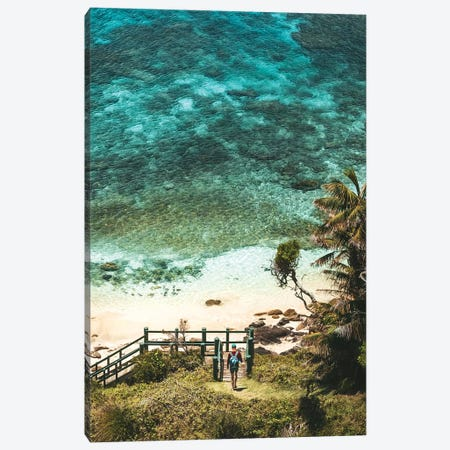 Walker At Secluded Pristine Beach Canvas Print #JVO230} by James Vodicka Canvas Wall Art