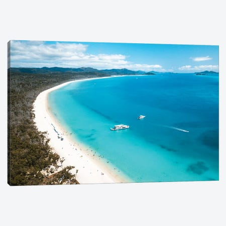 Whitehaven Beach Summer Aerial Canvas Print #JVO232} by James Vodicka Canvas Art