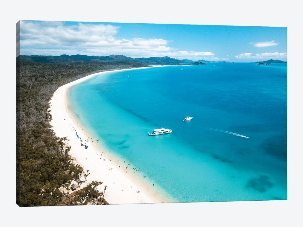 Whitehaven Beach Summer Aerial by James Vodicka 1-piece Canvas Wall Art