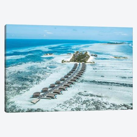 Club Med Finolhu Island Resort Aerial Canvas Print #JVO24} by James Vodicka Canvas Print