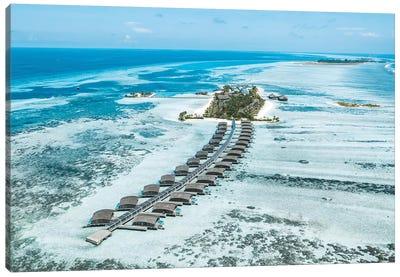 Club Med Finolhu Island Resort Aerial Canvas Art Print