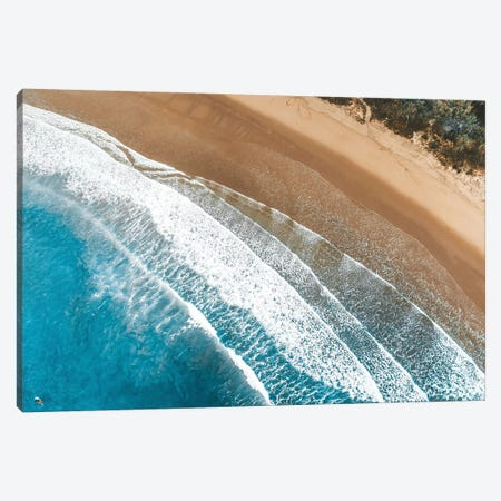 Coastal Waves Aerial Canvas Print #JVO28} by James Vodicka Canvas Wall Art