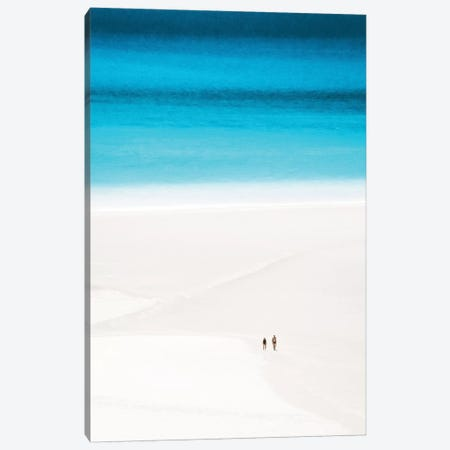 Couple Walk Secluded White Sand Beach Canvas Print #JVO30} by James Vodicka Art Print