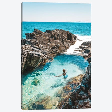 Fairy Pools Swimmer (Tall) Canvas Print #JVO36} by James Vodicka Canvas Wall Art