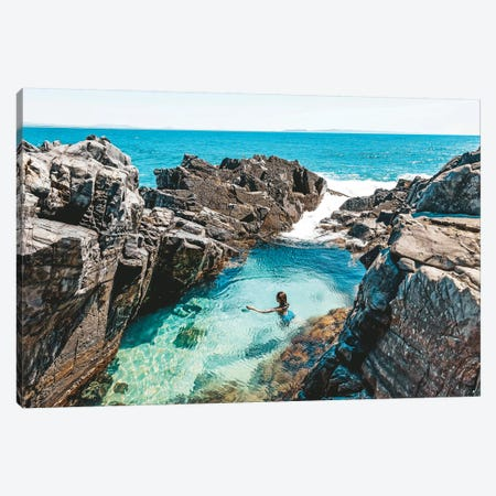 Fairy Pools Swimmer (Wide) Canvas Print #JVO37} by James Vodicka Canvas Artwork