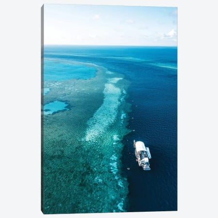 Great Barrier Reef Pontoon Canvas Print #JVO43} by James Vodicka Canvas Art