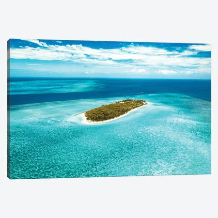 Heron Island Great Barrier Reef Aerial Canvas Print #JVO48} by James Vodicka Canvas Wall Art