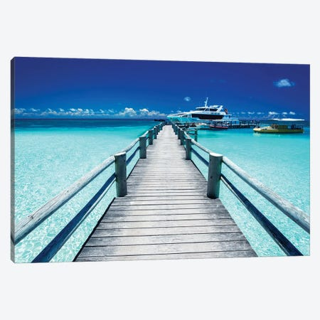 Heron Island Ocean Jetty Canvas Print #JVO50} by James Vodicka Canvas Art Print