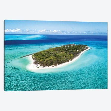 Heron Island Pristine Reef Aerial Canvas Print #JVO51} by James Vodicka Canvas Art Print