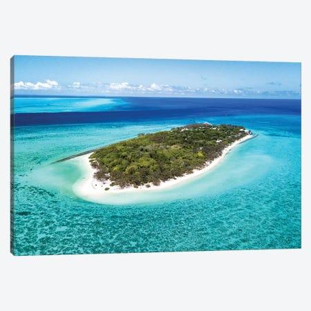 Heron Island Pristine Reef Aerial Canvas Print #JVO51} by James Vodicka Canvas Art Print