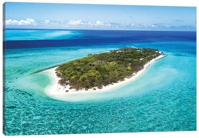 Heron Island Pristine Reef Aerial Canvas Art Print