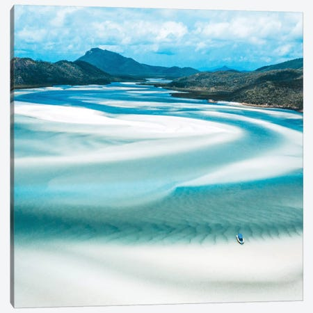 Hill Inlet Landscape Aerial (Square) Canvas Print #JVO53} by James Vodicka Canvas Print