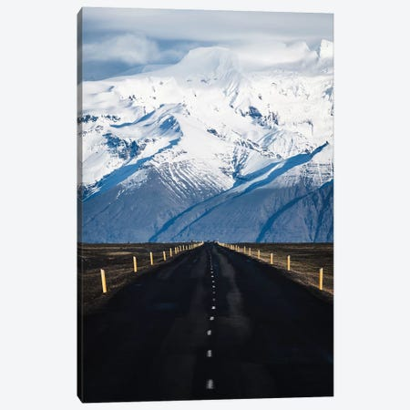 Icelandic Mountain Road Canvas Print #JVO56} by James Vodicka Canvas Art